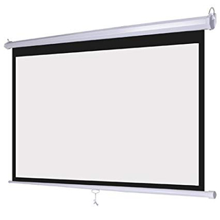 Factory direct 16:9 100'' Home cinema manual projection screen pull down screen