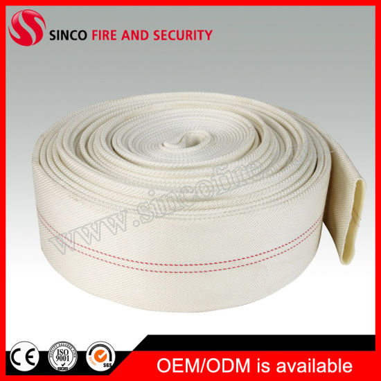 PVC/PU Fire Reel Pipe Woven Polyester Fiber Fire Hose