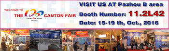 Welcome to visit our booth 11.2 L42 at 120th Canton Fair