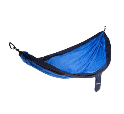 Double Camping Parachute Hammock with aluminum carabiners