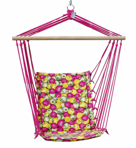 Cotton Net Garden Hang Chair With Soft Cushion