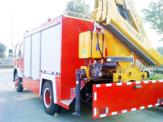 Isuzu 4*2 10t Fvr Fire Fighting Truck with 6.3tcrane Factory Slae