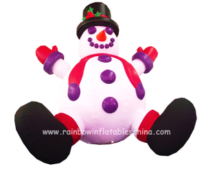 RB20007(2mh) Inflatable Snowman Mascot For Holiday Events