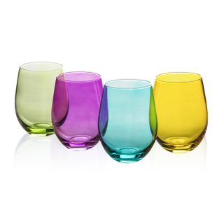 GS0201 Color Wine Glass 550ml 19oz 4pcs