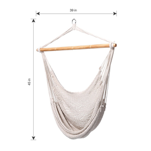 Cotton Rope Hanging Hammock Chair