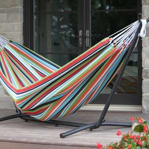 HOT SALES Cotton /Polyester Hammock With Adjustable Stand