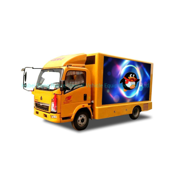 HOWO Truck Mounted Outdoor Advertising with LED Billboard Display Screen