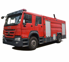 HOWO Double Cabin Fire Truck Duble Cabin Rhd/LHD 4X2 /4X4 Offroad All Wheel Drive with 6500liters - 8000L Water Foam Tank