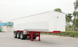 Tri-Axles Carbon Steel Refuse Tipper Semi-Trailer Sale