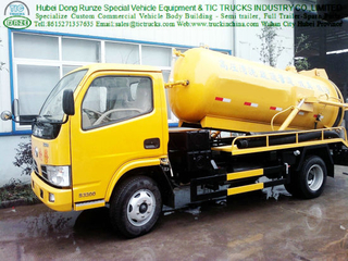 Dongfeng 2000L 100HP 4X2 Sewage Suction Truck VAC Tank Truck