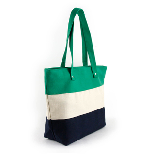 Tote stripe canvas beach tote bag Personalized striped heavy duty beach tote