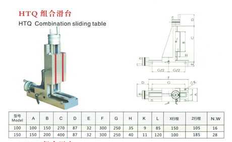 HTQ COMBINATION SLIDING TABLE