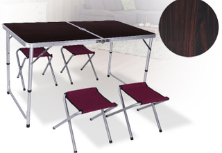 Four Chair One Folding Table Set