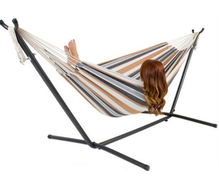 Canvas Cotton Hammock With Adjustable Stand
