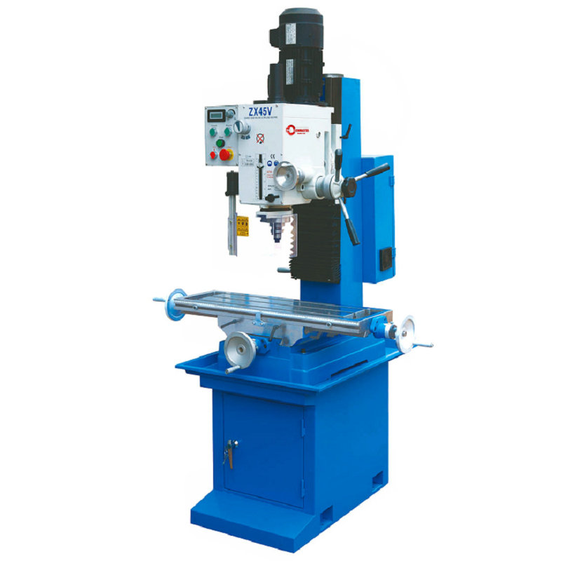 VARIABLE SPEED DRILLING AND MILLING MACHINE ZX45V WITH FREQUENCY INVETER