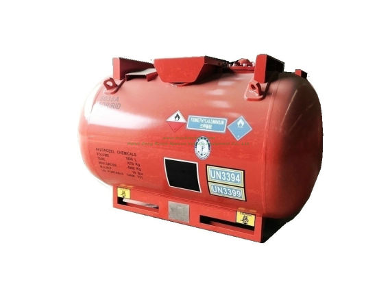 Triethylaluminum (TEAL) Alky Portable Tank Container C6h15al Un3399, Un3394 Capacity 1880liters Adr/Rid Organometallic Substance, Liquid, Water- Reactive