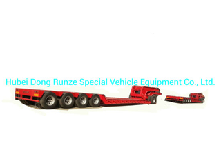 120 -150ton Hydraulic Detachable Gooseneck Lowbed Trailer 5 Axles Front Loading with Removable Dolly Trailer with - Removable Gooseneck for Heavy Oversize Load