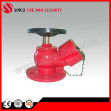 "2.5"" BS336 Oblique Angle Flange Type Fire Hydrant Landing Valve"