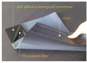 Self-adhesive waterproof membrane