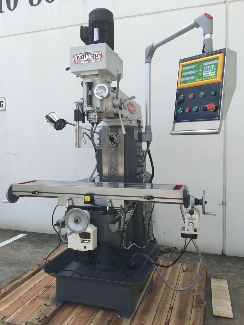 MGH757Z. Universal Mill Gear Head Drive with Easson 3 Axis Digital Readout