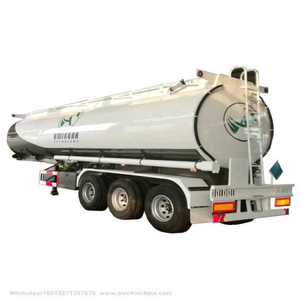 Straight Aluminum Tanker Trailer 40000L~45000L 3 Axle 6% Expansion