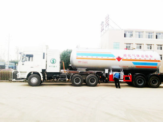 Asme Factory 40000liters 2 Axle LPG/Propane /Dme/ Isobutane Tank Semi Trailer for Sale