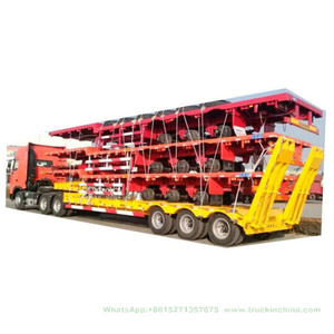 Flatbed Trailer for Cargo Transport Side Wall Removable or 40FT Container 45ton (Multi-Functions)