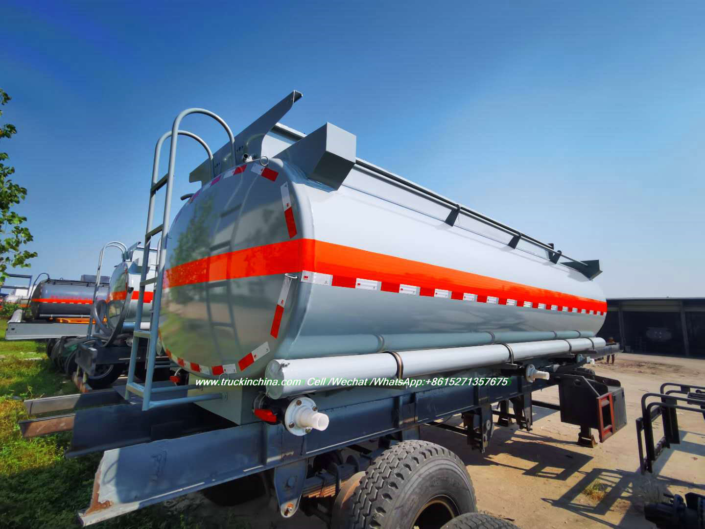 Steel Lined LDPE 18mm Moblie Hydrochloric Acid Tank Body 13m3 -16m3 to Vietnam