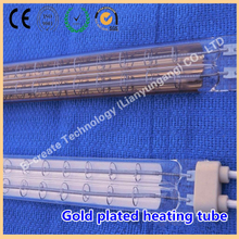 Double-hole gold-plated heating tube, double-hole gold-plated infrared radiation heating tube, double-hole medium-wave heating tube