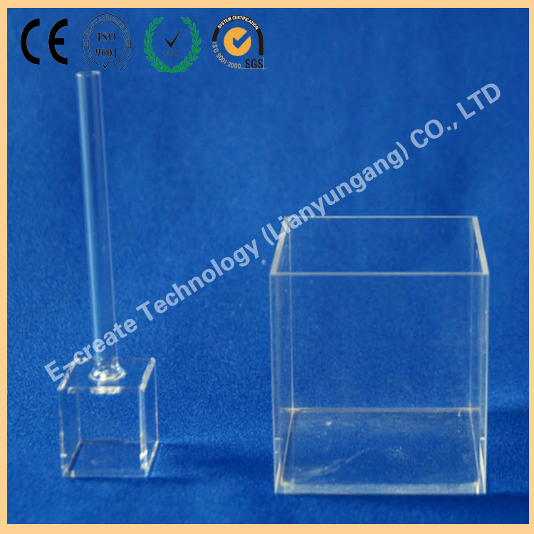 10mm square quartz spectrophotometer container with four polished windows