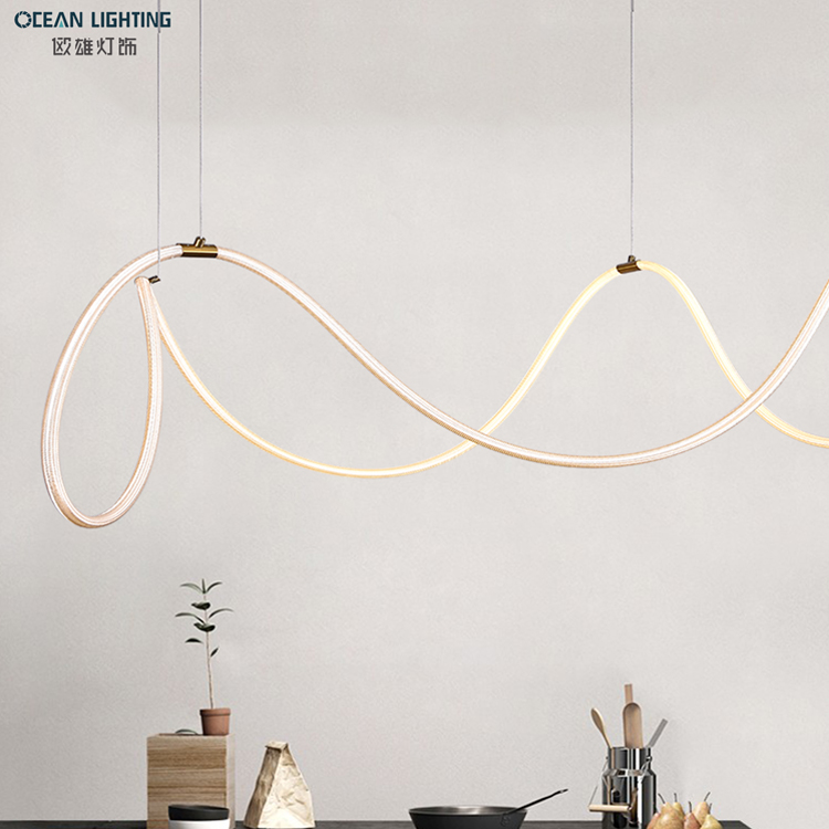 Luxury Light Modern Creative Living Room Silicone Tube Lighting Pendant Lamp