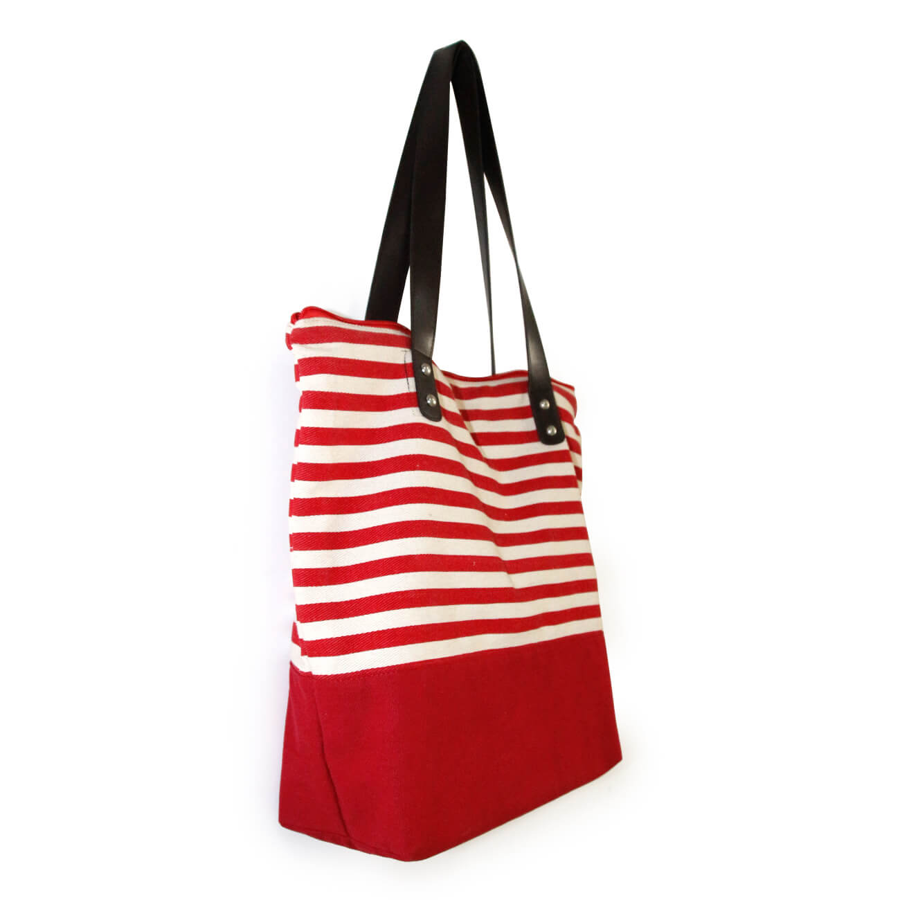 Customized Canvas Tote Bag Stripe Promotional Shopping Bag