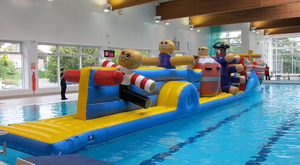 Inflatable Aqua Run Water Obstacle Game For Pool