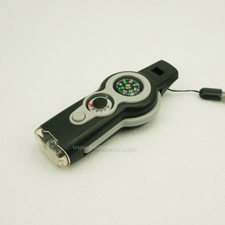 New design 7 in 1 Survival Whistle with compass