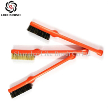 Pig Bristle Plastic Handle Cleaning Brushes