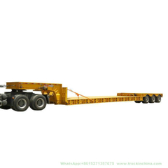 Customizing Excavator Transport Hydraulic Lowbed Lowboy 3 Line 6 Axles Low Bed Semi Trailer