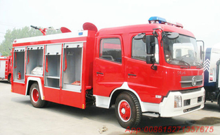 Double Cabin6000L Dongfeng 4X2 Fire Truck for Sale