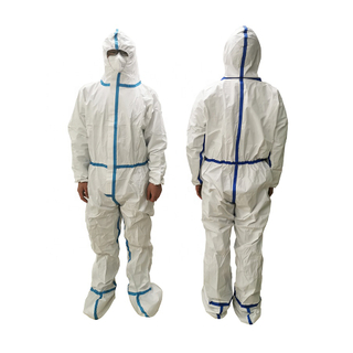 Disposable Polypropylene Nonwoven High Risk Safety Workwear Chemical Industrial Protective Suits