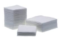 Non Sterile Medical Precut Gauze (7.5 X 7.5 CM, 32 PLY, 20 X 24), edge folded