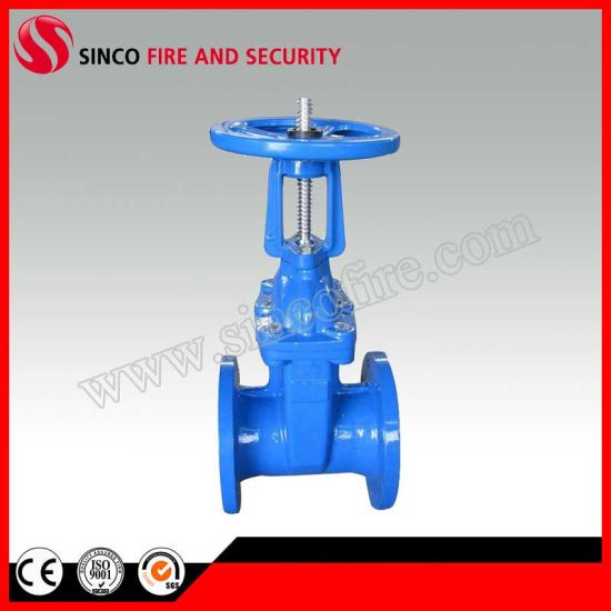 EPDM Rubber Coated Wedge Rising Stem Resilient Seat Gate Valve (Z41X)