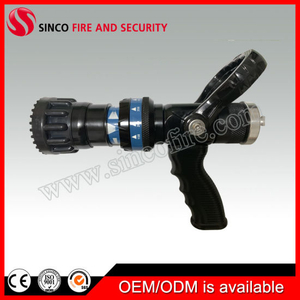 Selectable Flow Pistol Grip Fire Hose Nozzle for Firefighter