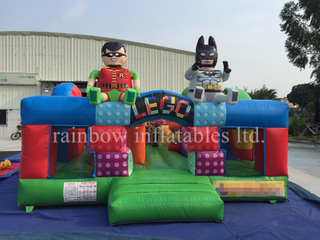 RB3092-1(5x5x2.8m) Inflatables Lego Theme Bouncer With Slide For Theme Park
