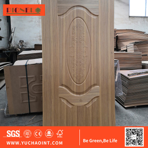 2.7mm Design Moulded HDF MDF Melamine Door Skin Interior 6 Panel Door Sheet Skin