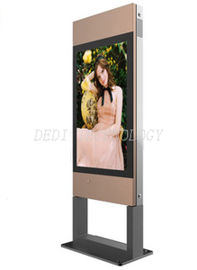 IP65 55inch floor stand outdoor advertising panels