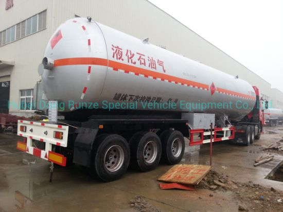 3 Axles Heavy Duty LPG Gas Tanker Semi Trailer 59cbm (Liquefied Petroleum Gas Propane, Isobutane, Dimethyl Ether)