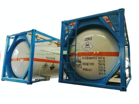 ISO Liquid Chlorine Ahf Tank Containers 20FT 21670 Liters (27Ton) Class 8 Cl2 Un1791 Hydro Test Pressure 1.95MPa