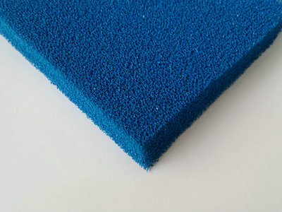 Silicone Sponge Rubber Sheet Blue Open Cell-005_副本