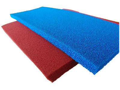 silicone sponge rubber sheet blue open cell-006_副本