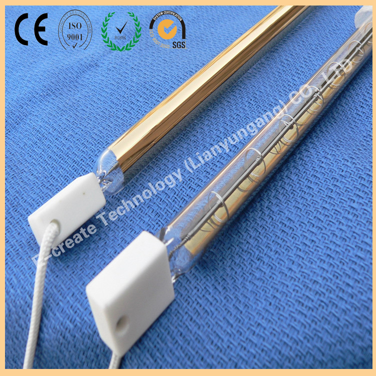 Double hole heater, infrared tube, gold plated heater, gold plated tube