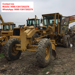 Used Motor Grader Caterpillar 140H Motor Low Price for Sale From Shanghai
